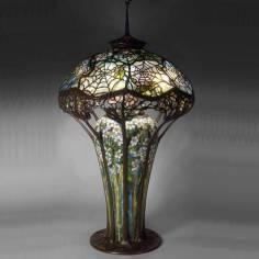 Đèn bàn Tiffany mạng nhện
