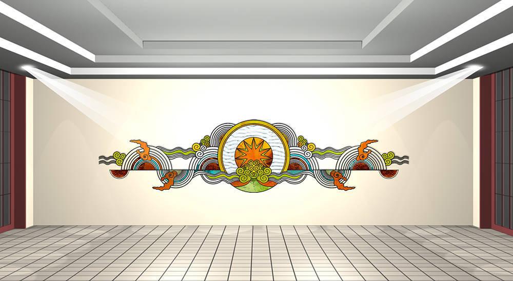 Kính màu ghép UBND quận Đống Đa, Tây Hồ, Hà Nội