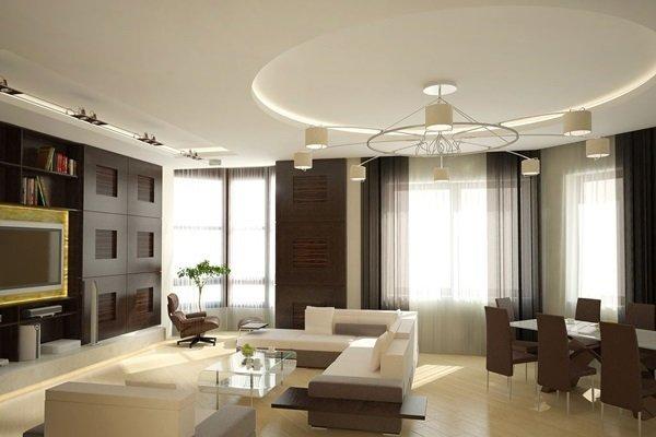 Sử dụng đèn trang trí nội thất cho phòng khách nhà phố