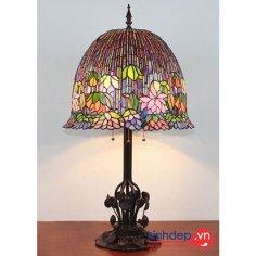 Mẫu đèn ngủ Tiffany – Flowering Lotus Lamp