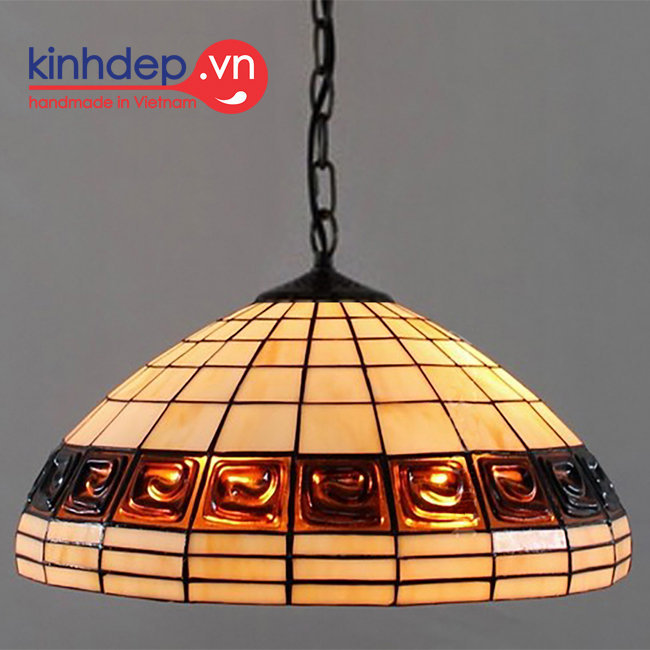 Mẫu đèn treo trần Tiffany Turtleback Lamp