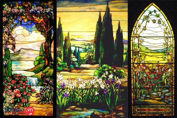 Top 5 bức tranh kính phong cảnh đẹp, sang trọng cho nội thất nhà đẹp