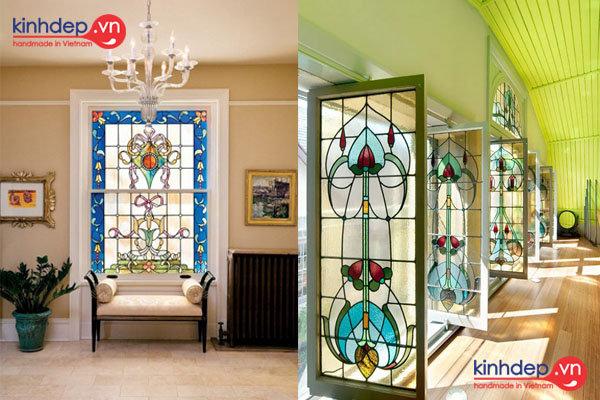 Cửa kính màu nghệ thuật – Phong cách trang trí cho nội thất đẹp lung linh