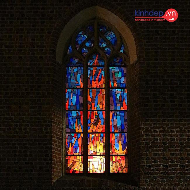 Mẫu tranh kính nhà thờ – V26