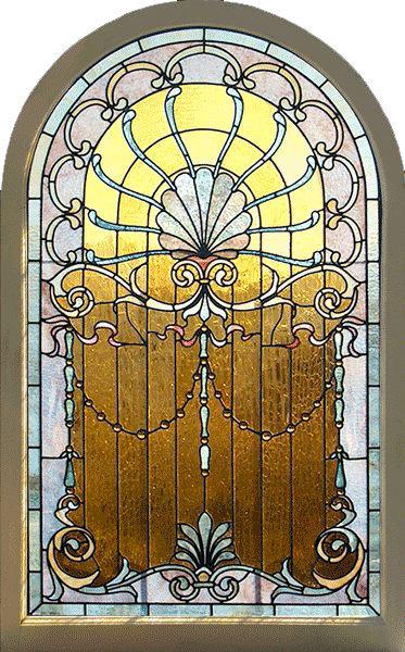 Mẫu cửa kinh chất liệu kính màu Tiffany cổ điển
