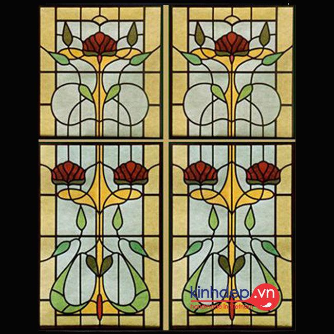 Mẫu cửa sổ kính nghệ thuật – V37