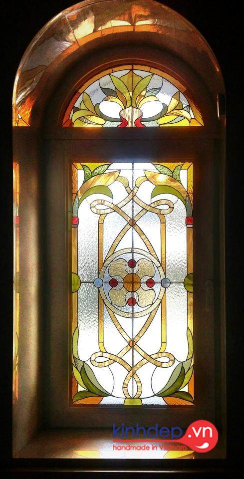 Cửa sổ kính nghệ thuật V47 - Thiết kế cửa sổ kính màu nghệ thuật