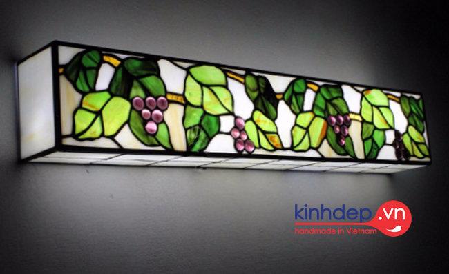 Mẫu đèn gắn tường Tiffany T25 - Thiết kế hình hộp gắn tường đẹp mắt