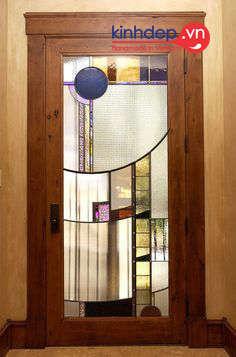 Cửa kính màu Tiffany - Mẫu cửa kính màu đồ họa