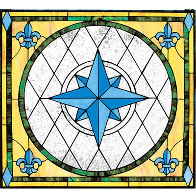 Mẫu cửa sổ kính nghệ thuật V79