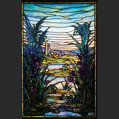 Thiết kế tranh kính phong cảnh decor D23
