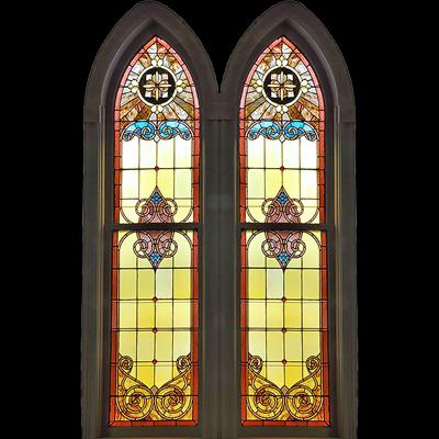 Vách ngăn kính nhà thờ họa tiết cổ điển V55