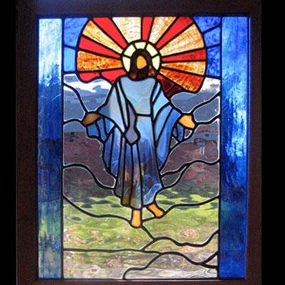 Vách ngăn kính nhà thờ hình Chúa V54