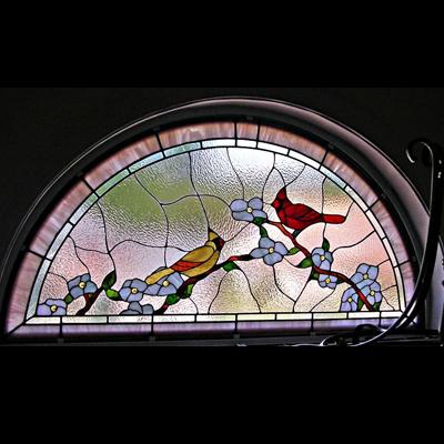 Thiết kế ô thoáng cửa kính màu NT06