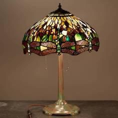 Đèn bàn tiffany đèn chuồn chuồn T11KD