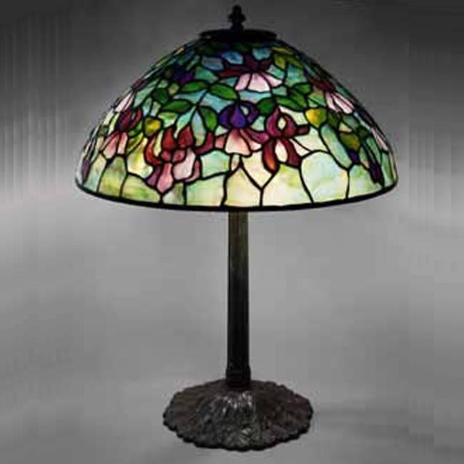 Đèn bàn Tiffany Fuchsia – T09KD