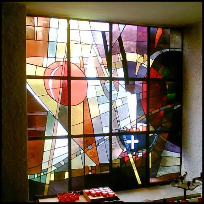 Vách tranh kính – V14