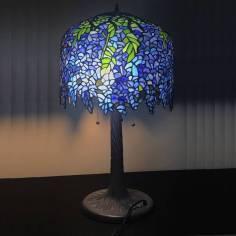 Cây đèn ngủ Tiffany KDC03- Cây Đậu Tía ( Westeria Lamp)