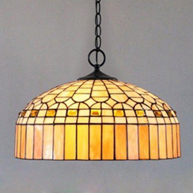 Mẫu đèn gắn trần Tiffany KDC02- Baroque Lamp