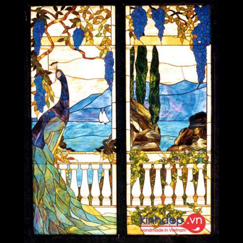 Mẫu cửa sổ kính nghệ thuật – V18