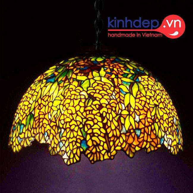 Mẫu đèn treo trần Tiffany Laburnum – T20KD