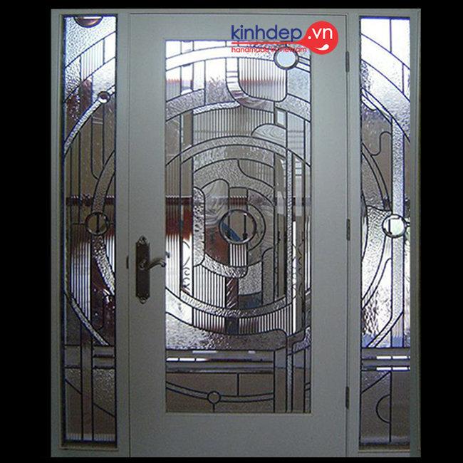 Mẫu cửa kính nghệ thuật – V40