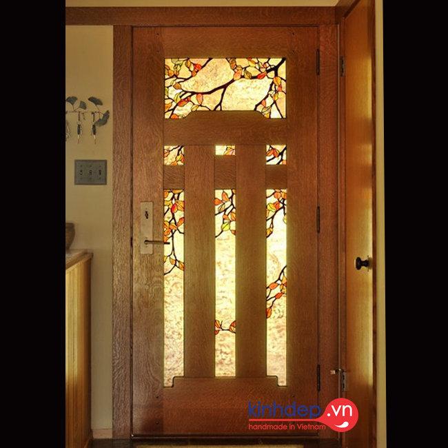 Mẫu cửa kính nghệ thuật – V51