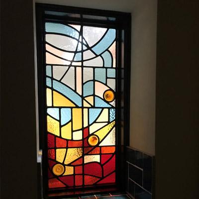 Mẫu cửa sổ kính nghệ thuật – V78