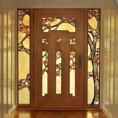 Mẫu cánh cửa kính màu NT23