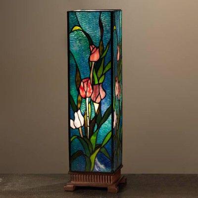 Mẫu đèn bàn Tiffany hoa tulip T45 KD