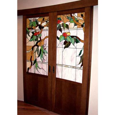Mẫu cánh cửa kính màu NT24